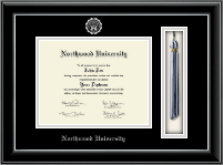 Northwood University in Florida Diploma Frame - Tassel Edition Diploma Frame in Onyx Silver