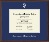 Spartanburg Methodist College Diploma Frame - Silver Embossed Diploma Frame in Devon