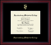 Spartanburg Methodist College Diploma Frame - Gold Embossed Achievement  Diploma Frame in Academy