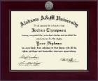 Alabama A&M University Diploma Frame - Century Silver Engraved Diploma Frame in Cordova