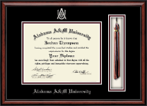 Alabama A & M University Diploma Frame - Tassel Diploma Frame in Southport