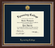Lycoming College Diploma Frame - Gold Engraved Medallion Diploma Frame in Hampshire