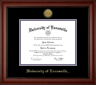 University of Evansville Diploma Frame - Gold Engraved Medallion Diploma Frame in Cambridge