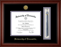University of Evansville Diploma Frame - Gold Engraved Tassel Diploma Frame in Cambridge