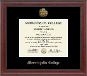 Morningside College Diploma Frame - Gold Engraved Medallion Diploma Frame in Signature