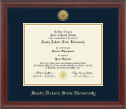 South Dakota State University Diploma Frame - Gold Engraved Medallion Diploma Frame in Signature