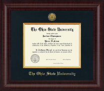 The Ohio State University Diploma Frame - Presidential Gold Engraved Diploma Frame in Premier
