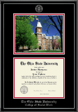 The Ohio State University Diploma Frame - Campus Scene Edition Diploma Frame in Onexa Silver
