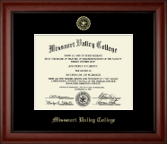 Missouri Valley College Diploma Frame - Gold Embossed Diploma Frame in Cambridge