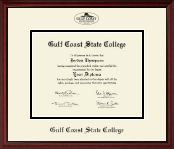 Gulf Coast State College Diploma Frame - Black Embossed Diploma Frame in Camby