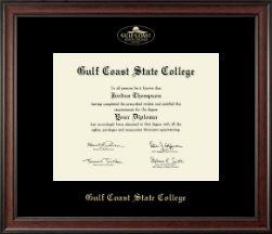 Gulf Coast State College Diploma Frame - Gold Embossed Diploma Frame in Studio