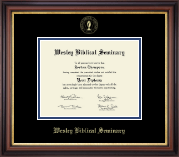 Wesley Biblical Seminary Diploma Frame - Gold Embossed Diploma Frame in Regency Gold