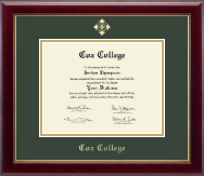 Cox College Diploma Frame - Gold Embossed Diploma Frame in Gallery