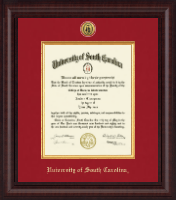 University of South Carolina Diploma Frame - Presidential Gold Engraved Diploma Frame in Premier