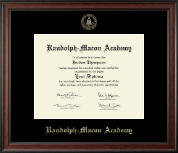 Randolph-Macon Academy Diploma Frame - Gold Embossed Diploma Frame in Studio