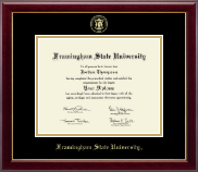 Framingham State University  Diploma Frame - Gold Embossed Diploma Frame in Gallery