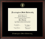 Framingham State University  Diploma Frame - Gold Embossed Diploma Frame in Studio