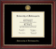 University of Indianapolis Diploma Frame - Gold Engraved Medallion Diploma Frame in Kensington Gold