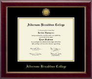 Alderson-Broaddus College Diploma Frame - Gold Engraved Medallion Diploma Frame in Gallery