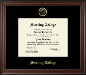 Sterling College Diploma Frame - Gold Embossed Diploma Frame in Studio
