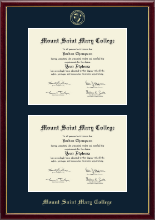 Mount Saint Mary College Diploma Frame - Double Document Diploma Frame in Galleria