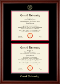 Cornell University Diploma Frame - Double Diploma Frame in Cambridge