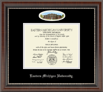 Eastern Michigan University Diploma Frame - Campus Cameo Diploma Frame in Chateau