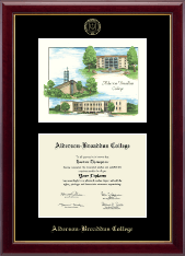 Alderson-Broaddus College Diploma Frame - Campus Scene Diploma Frame in Gallery