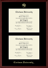 Clarkson University Diploma Frame - Double Document Diploma Frame in Camby
