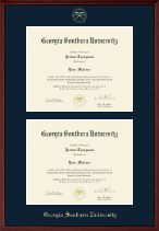 Georgia Southern University Diploma Frame - Double Document Diploma Frame in Camby