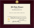 Phi Beta Kappa Honor Society Certificate Frame - Medallion Frame in Cordova