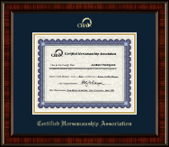 Certified Horsemanship Association Certificate Frame - Gold Embossed Certificate Frame in Ridgewood
