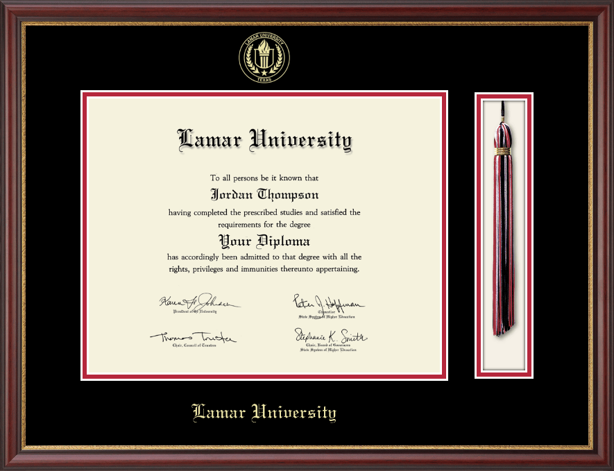 Lamar University Tassel Edition Diploma Frame In Newport