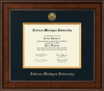 Indiana Wesleyan University  Diploma Frame - Presidential Gold Engraved Diploma Frame in Madison
