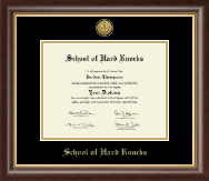 School of Hard Knocks Diploma Frame - Gold Engraved Medallion Diploma Frame in Hampshire
