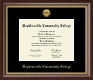 Hopkinsville Community College at Kentucky Diploma Frame - Gold Engraved Medallion Diploma Frame in Hampshire