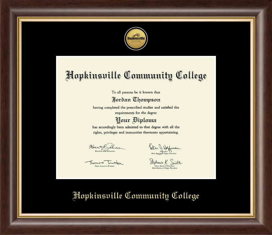 Hopkinsville Community College At Kentucky Gold Engraved