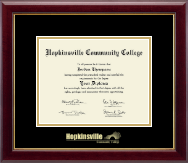 Hopkinsville Community College at Kentucky Diploma Frame - Gold Embossed Diploma Frame in Gallery