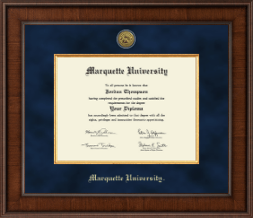 Marquette University Diploma Frame - Presidential Gold Engraved Diploma Frame in Madison