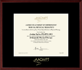 American Academy of Orthopaedic Manual Physical Therapists Certificate Frame - Gold Embossed Certificate Frame in Camby