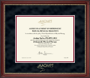 American Academy of Orthopaedic Manual Physical Therapists Certificate Frame - Gold Embossed Certificate Frame in Kensington Gold