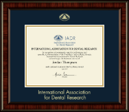 International Association of Dental Research Certificate Frame - Gold Embossed Certificate Frame in Ridgewood