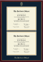 The Juilliard School Diploma Frame - Double Document Diploma Frame in Galleria