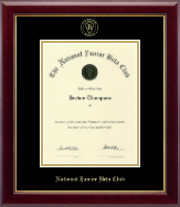 The National Junior Beta Club Certificate Frame - Gold Embossed Certificate Frame in Gallery