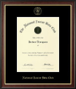 The National Junior Beta Club Certificate Frame - Gold Embossed Certificate Frame in Studio Gold