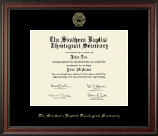 The Southern Baptist Theological Seminary Diploma Frame - Gold Embossed Diploma Frame in Studio