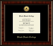 Black Hawk College Diploma Frame - Gold Engraved Medallion Diploma Frame in Ridgewood