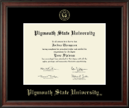 Plymouth State University Diploma Frame - Gold Embossed Diploma Frame in Studio