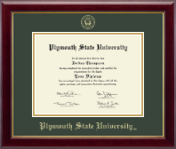 Plymouth State University Diploma Frame - Gold Embossed Diploma Frame in Gallery