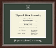 Plymouth State University Diploma Frame - Silver Embossed Diploma Frame in Devonshire